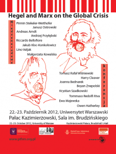 Conference Hegel and Marx on the Global Crisis